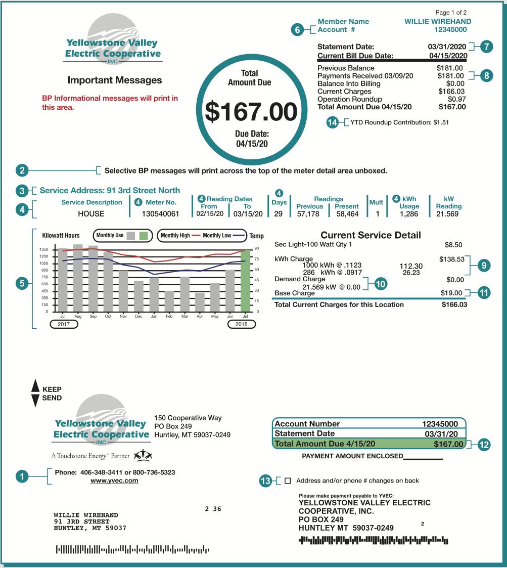 sample bill document